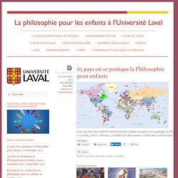 65 pays où se pratique la Philosophie pour enfants