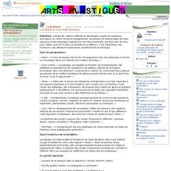 La pratique- Arts plastiques - ac Poitiers