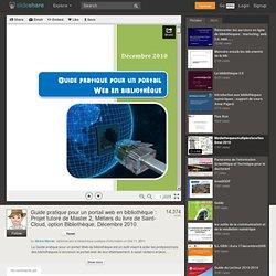Guide pratique pour un portail web en bibliothèque : Projet tutoré ...