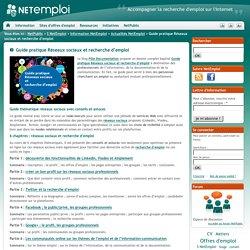 Guide pratique Réseaux sociaux et recherche d'emploi