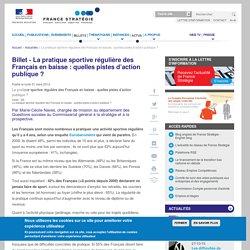 Florinegouby a ajouté : La pratique sportive régulière des Français en baisse: quelles pistes d'action publique?