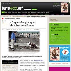 Afrique : des pratiques chinoises accablantes