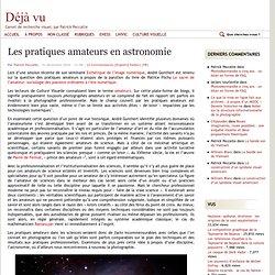 Les pratiques amateurs en astronomie