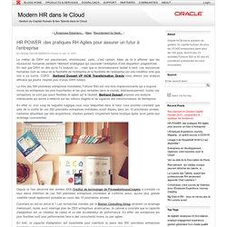 HR POWER :des pratiques RH Agiles pour assurer un futur à l'entreprise (Modern HR dans le Cloud)