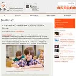 Les pratiques fondées sur l'autorégulation à l'école