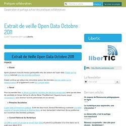 Extrait de veille Open Data Octobre 2011