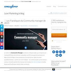 9 bonnes pratiques du Community manager de 2015