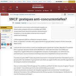 SNCF: pratiques anti-concurrentielles?