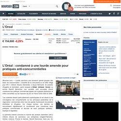 L'Oréal : condamné à une lourde amende pour pratiques anti-concurrentielles