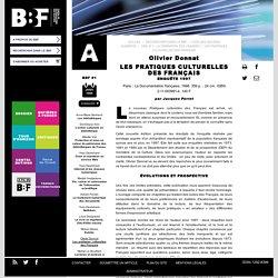 Les pratiques culturelles des Français : synthèse ENSSIB et évolutions