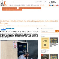 La lecture recule encore au sein des pratiques culturelles des Français