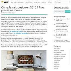 Bonne Pratiques Web Design - Nos Prévisions pour 2016