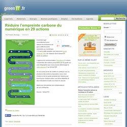 Réduire l'empreinte carbone du numérique en 29 actions