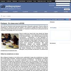 Pratiques : En classe avec le BYOD