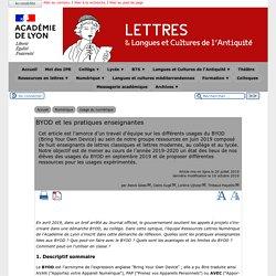 BYOD et les pratiques enseignantes - [Lettres & Langues et Cultures de l'Antiquité]