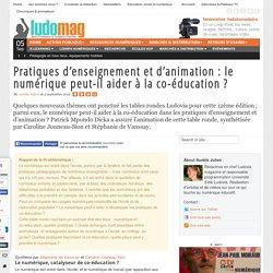 Pratiques d'enseignement et d'animation : le numérique peut-il aider à la co-éducation ?
