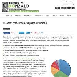 10 bonnes pratiques d'entreprises sur Linkedin