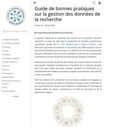 Guide de bonnes pratiques sur la gestion des données de la recherche