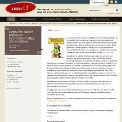 L'enquête sur les pratiques informationnelles, 2ème édition