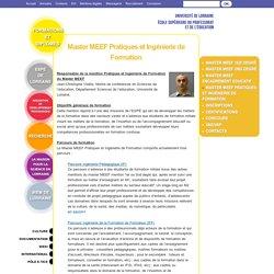 Master MEEF Pratiques et Ingénierie de Formation