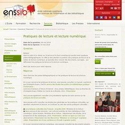 Lecture numérique - ENSSIB