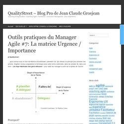 Outils pratiques du Manager Agile #7: La matrice Urgence / Importance