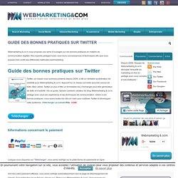 Ebook / Livre Guide des bonnes pratiques marketing sur Twitter