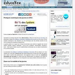 Pratiques numériques des jeunes en 2012