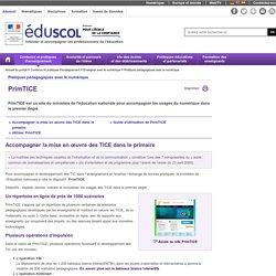 Pratiques pédagogiques avec le numérique - PrimTICE - Éduscol