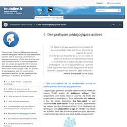 6. Des pratiques pédagogiques actives - toutatice.fr