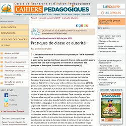 Pratiques de classe et autorité