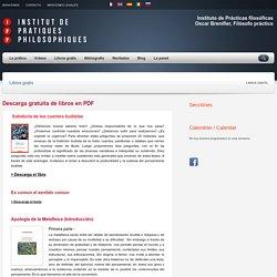 Libros gratis – Institut de pratiques philosophiques