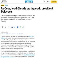 Au Cese, les drôles de pratiques du président Delevoye