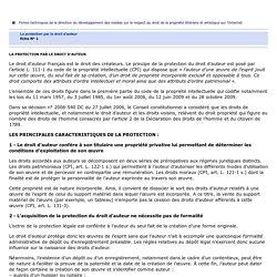 Infos pratiques : La protection par le droit d'auteur