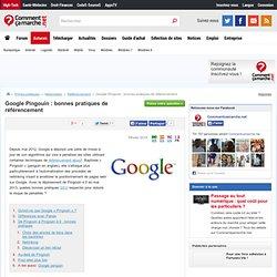 Google Pingouin : bonnes pratiques de référencement