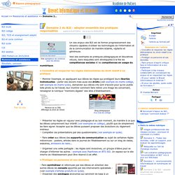 Domaine 2 du B2I : adopter ensemble des pratiques ...