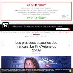Les pratiques sexuelles des français. Le Fil d'Ariane du 25/09