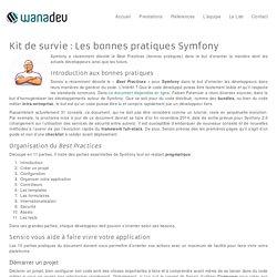 Kit de survie : Les bonnes pratiques Symfony - Wanadev - Wanadev Lyon