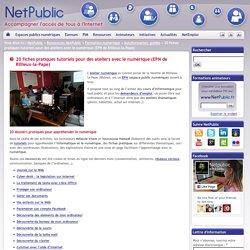 20 fiches pratiques tutoriels pour des ateliers avec le numérique (EPN de Rillieux-la-Pape)