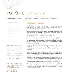 Pratiques et valeurs - TOPÔME architecture