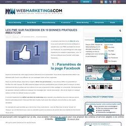Les PME sur Facebook en 10 bonnes pratiques #meetcom