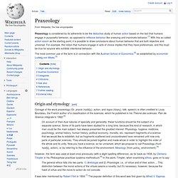 Praxeology