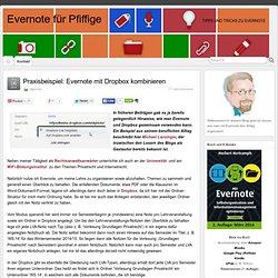 Praxisbeispiel: Evernote mit Dropbox kombinieren