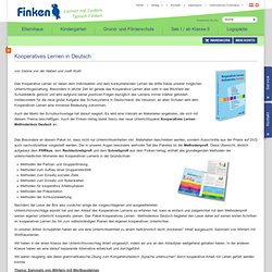 Praxisbericht Kooperatives Lernen in Deutsch