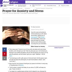 Prayer for Anxiety and Stress With Bible Verses
