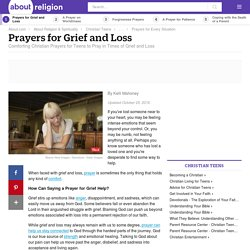 Prayer for Grief and Loss