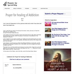 Prayer for healing of Addiction