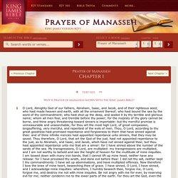 PRAYER-OF-MANASSEH CHAPTER 1 KJV