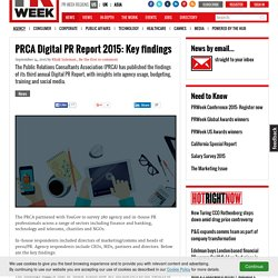 PRCA Digital PR Report 2015: Key findings