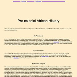 Pre-colonial African History
